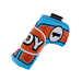 Odyssey Racing Blade Light Blue/Orange Headcover - View 1