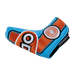 Odyssey Racing Blade Light Blue/Orange Headcover - View 4