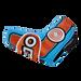 Odyssey Racing Blade Light Blue/Orange Headcover - View 4