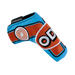 Odyssey Racing Blade Light Blue/Orange Headcover - View 3